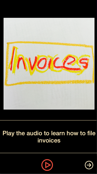 Training tool – record sequence of instructions in audio and pictures